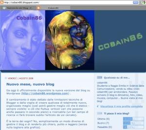 Schermata blog Blogger