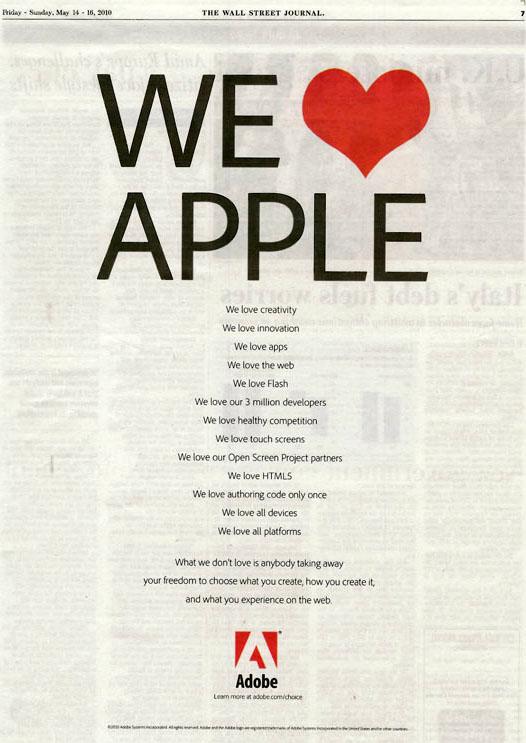 Adobe-We-love-Apple