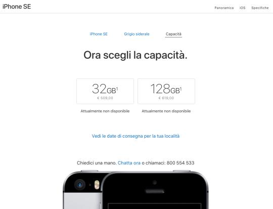 iphone_se_Capacità